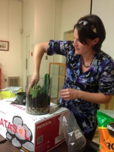 """""""Succulents and Terrariums"""" with Christie-Anna Lovat of McGill, Sept. 2016"""