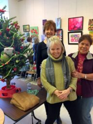""" BGC Christmas tree at Beaconsfield Library, decorated by Carole, Susan and Salve, Dec. 2016"""
